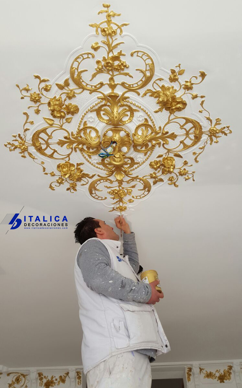 ITALICA DECORACIONES - PLAFON TECHO DECORADO ORO
