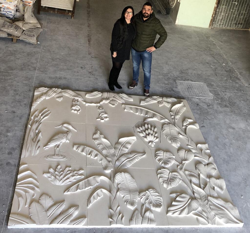 Mural Tropical ITALICA DECORACIONES para Casa Decor 2019